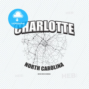Charlotte, North Carolina, logo artwork - HEBSTREITS