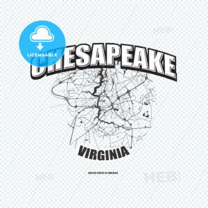 Chesapeake, Virginia, logo artwork - HEBSTREITS