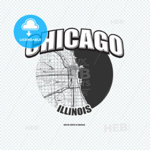 Chicago, Illinois, logo artwork - HEBSTREITS