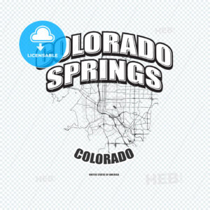 Colorado Springs, Colorado, logo artwork - HEBSTREITS