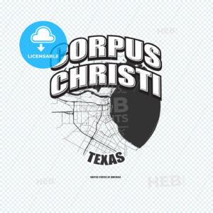 Corpus Christi, Texas, logo artwork - HEBSTREITS