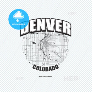 Denver, Colorado, logo artwork - HEBSTREITS