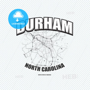 Durham, North Carolina, logo artwork - HEBSTREITS