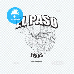 El Paso, Texas, logo artwork - HEBSTREITS