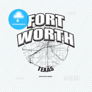 Fort Worth, Texas, logo artwork - HEBSTREITS