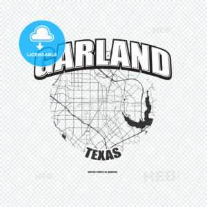 Garland, Texas, logo artwork - HEBSTREITS