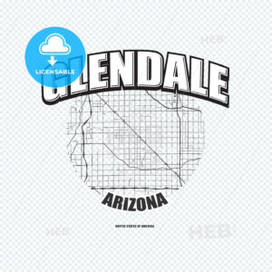 Glendale, Arizona, logo artwork - HEBSTREITS