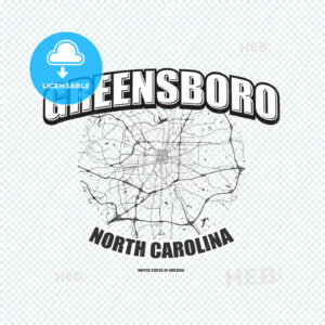 Greensboro, North Carolina, logo artwork - HEBSTREITS