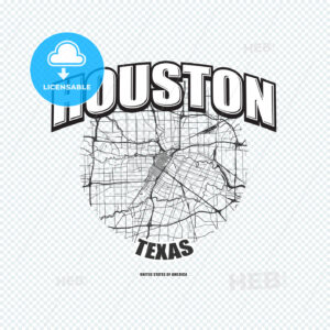Houston, Texas, logo artwork - HEBSTREITS