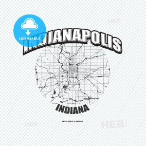 Indianapolis, Indiana, logo artwork - HEBSTREITS