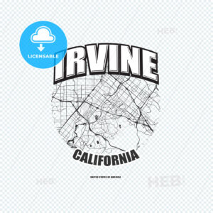 Irvine, California, logo artwork - HEBSTREITS