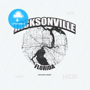 Jacksonville, Florida, logo artwork - HEBSTREITS