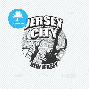 Jersey City, New Jersey, logo artwork - HEBSTREITS