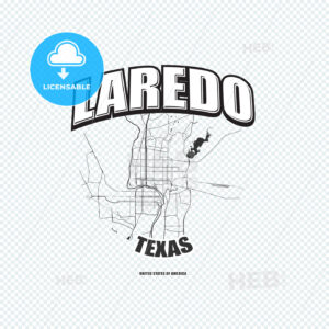 Laredo, Texas, logo artwork - HEBSTREITS