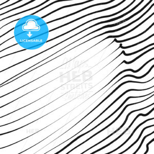 Line art wavy pattern - HEBSTREITS