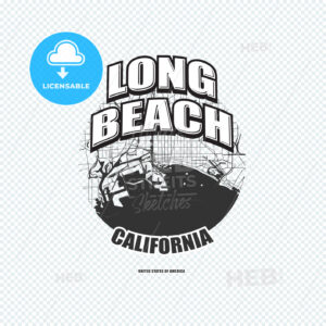 Long Beach, California, logo artwork - HEBSTREITS