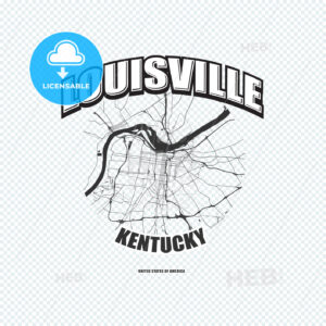 Louisville, Kentucky, logo artwork - HEBSTREITS