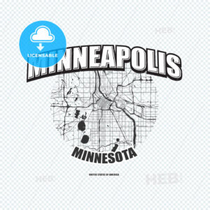 Minneapolis, Minnesota, logo artwork - HEBSTREITS