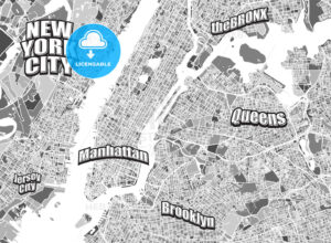 New York City district map - HEBSTREITS