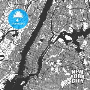 New York City vector map - HEBSTREITS