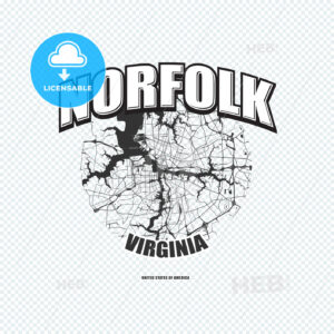 Norfolk, Virginia, logo artwork - HEBSTREITS