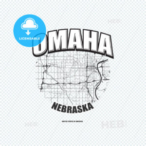 Omaha, Nebraska, logo artwork - HEBSTREITS