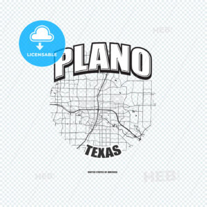 Plano, Texas, logo artwork - HEBSTREITS
