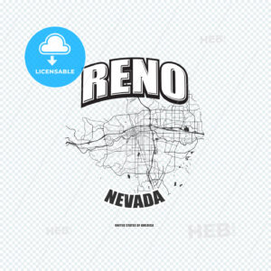Reno, Nevada, logo artwork - HEBSTREITS