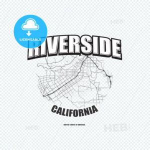 Riverside, California, logo artwork - HEBSTREITS