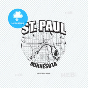 Saint Paul, Minnesota, logo artwork - HEBSTREITS