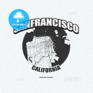 San Francisco, California, logo artwork - HEBSTREITS