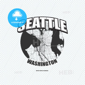 Seattle, Washington, logo artwork - HEBSTREITS
