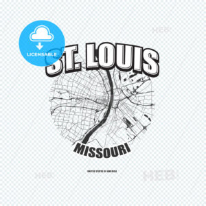 St. Louis, Missouri, logo artwork - HEBSTREITS