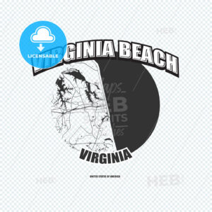 Virginia Beach, Virginia, logo artwork - HEBSTREITS