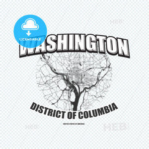 Washington, District of Columbia, logo artwork - HEBSTREITS
