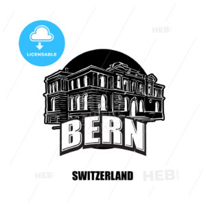 Bern, switzerland, black and white logo - HEBSTREITS