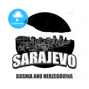 Sarajevo black and white logo - HEBSTREITS