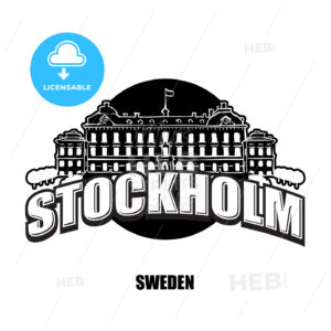 Stockholm royal palace black and white logo - HEBSTREITS