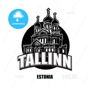 Tallin, Estonia, black and white logo - HEBSTREITS