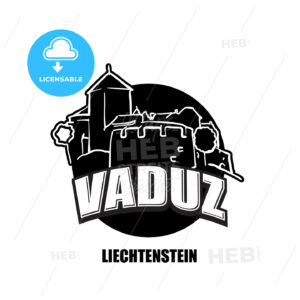 Vaduz, Liechtenstein, black and white logo - HEBSTREITS