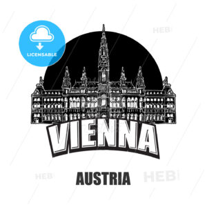 Vienna, Austria, black and white logo - HEBSTREITS