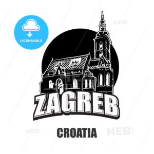 Zagreb, Croatia, black and white logo - HEBSTREITS