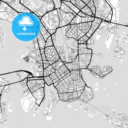 Downtown map of Helsinki, Finland