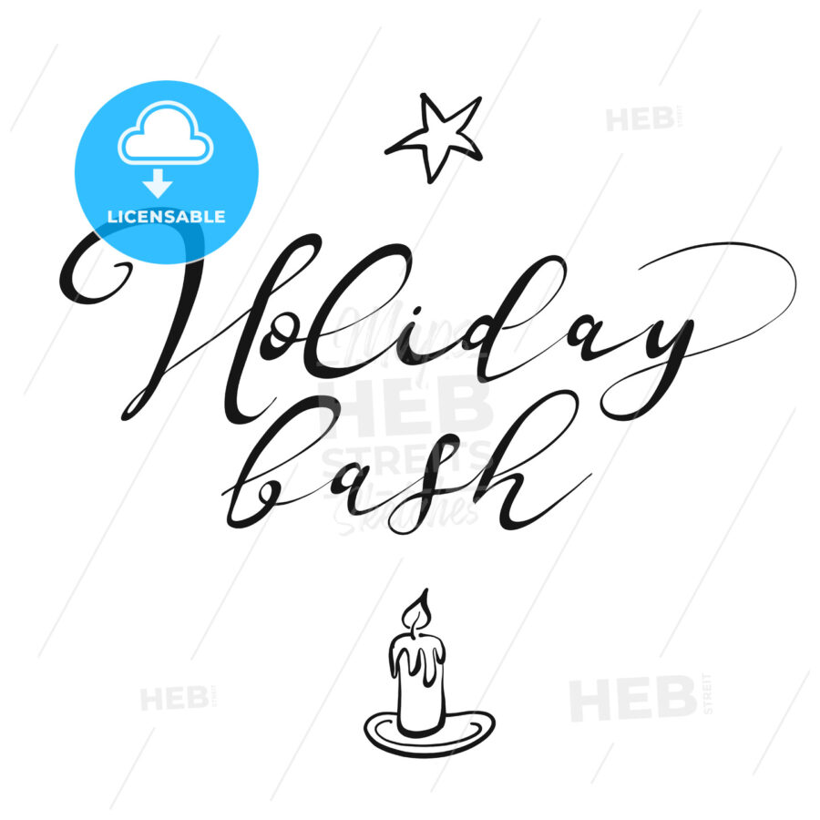 Holiday bash lettering - HEBSTREITS