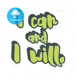 I can and I will lettering - HEBSTREITS