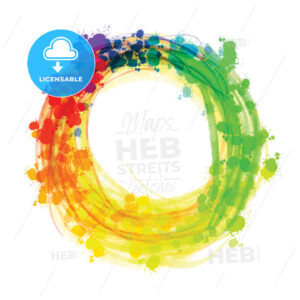 Multicolor splashed watercolor circle - HEBSTREITS