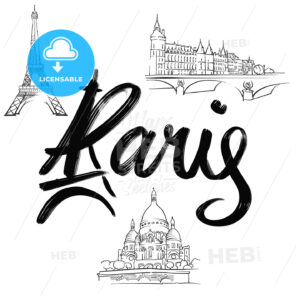 Paris lettering with signs - HEBSTREITS