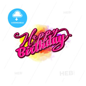 happy birthday lettering - HEBSTREITS