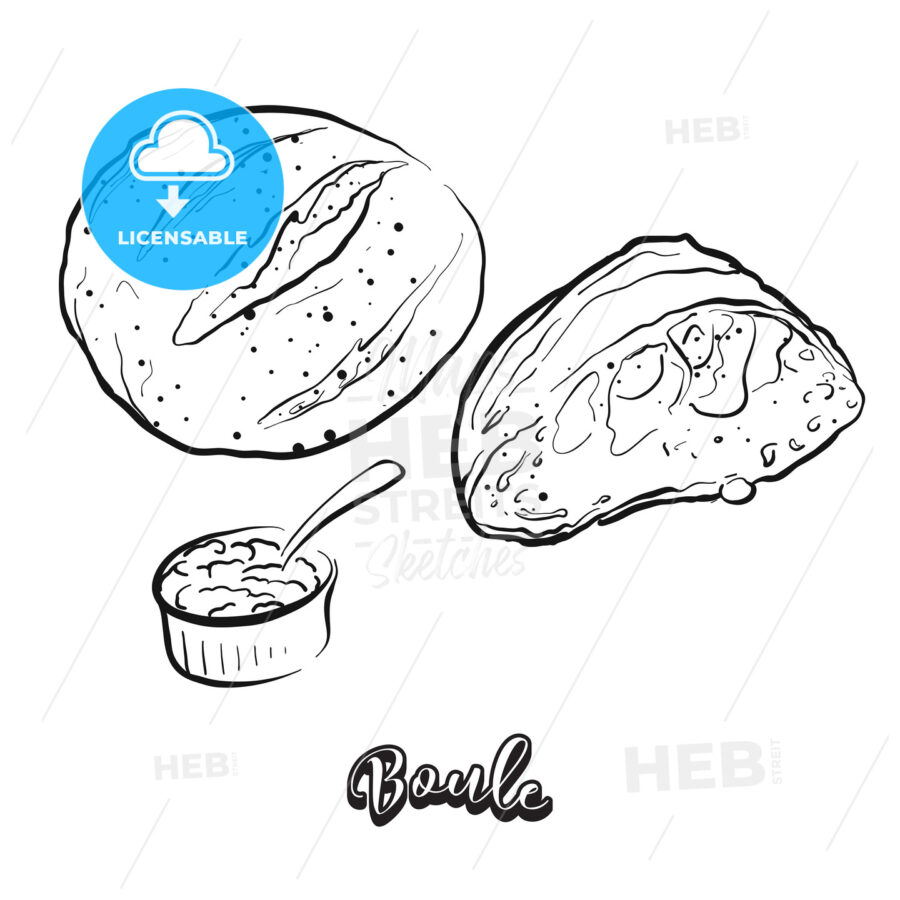 Hand drawn sketch of Boule bread - HEBSTREITS