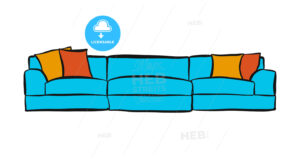 comfortable couch with three parts - HEBSTREITS